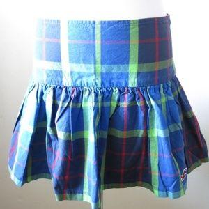 HOLLISTER Plaid Check Fully Line Mini Skirt Size 1
